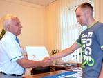 Burmistrz pogratulował młodemu sportowcowi